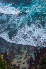 Ocean waves top view