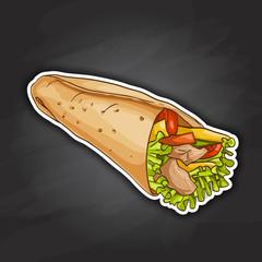 Burrito color picture sticker