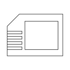 Micro sd card icon, outline style