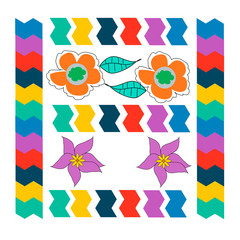 Bright Mexican pattern