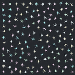 Abstract pastel stars background.