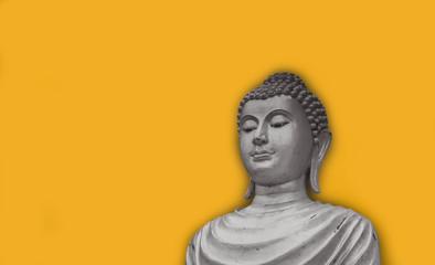 Old portrait buddha statue