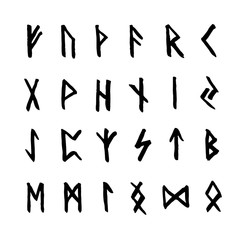 Old scandinavian runes set
