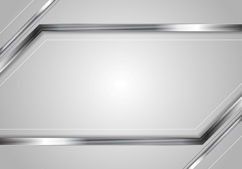 Concept abstract technology metallic vector background