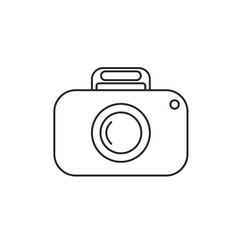 Outline camera icon on white background