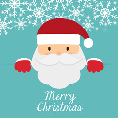 Santa cartoon icon. Merry Christmas design. vector graphic
