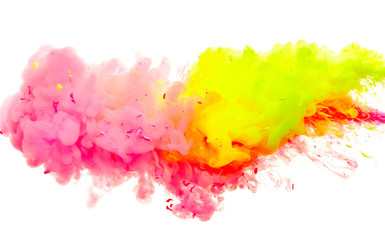 Splash of paint isolated on white background