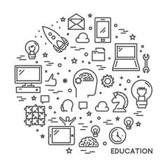 Line design concept for online education