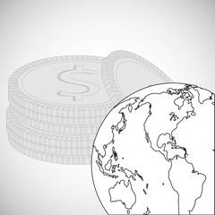 Financial item design. money icon. Flat illustration, vector graphic