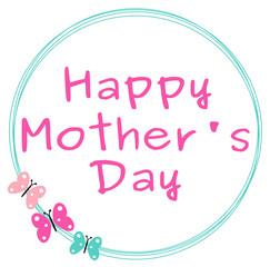 cute colorful happy mother's day background vector illustration