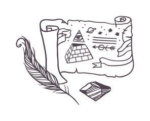 Vector secret symbols.