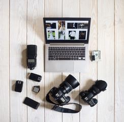 Photographer Wedding Equipment Camera Business Work Hobby Lifestyle Start Up Concept