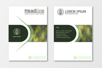 Green annual report business brochure flyer design template vector, Leaflet cover presentation abstract flat background, layout in A4 size for magazine, cover, poster design