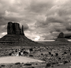 Wall Mural - Sepia toned Monument Valley Cloudy Skies