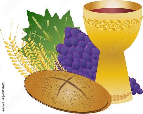 Quot Eucharist Symbols Of Bread And Wine Chalice And Host