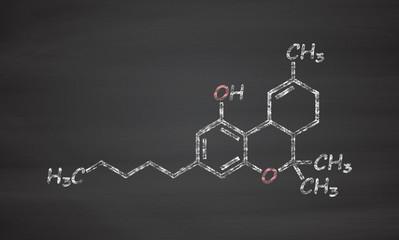 THC (delta-9-tetrahydrocannabinol, dronabinol) cannabis drug mol