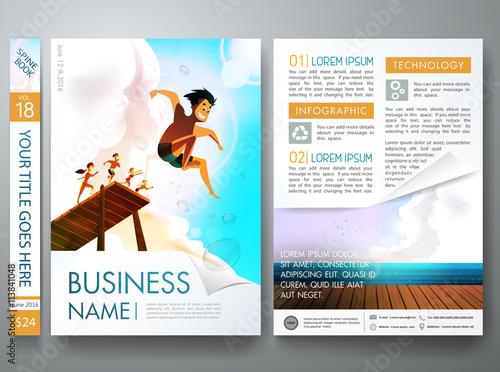 brochure design template vector.business flyers report magazine, Graphic Presentation Poster Template, Presentation templates