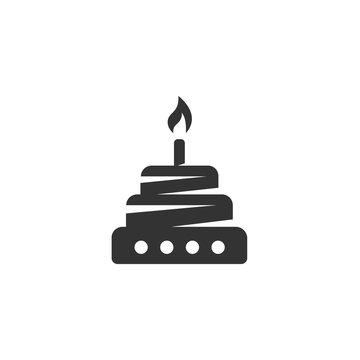 Vector Cake icon isolated on white background