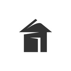 Vector Home icon isolated on white background