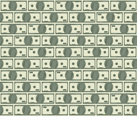 Dollars seamless pattern
