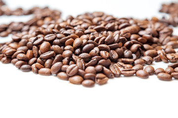 coffee beans isolated over white background