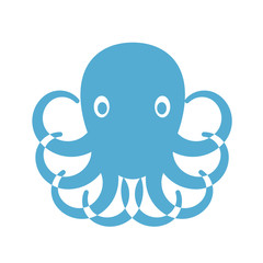 Vector print for t-shirt. Octopus on a white background