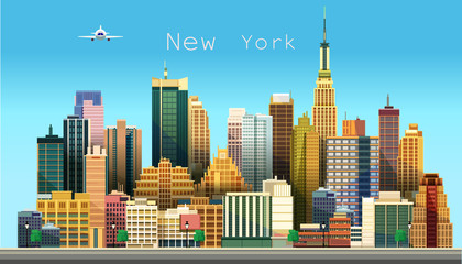 New York city. Vector illustration