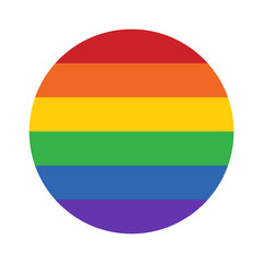 Gay pride movement rainbow circle flat vector icon for apps and websites