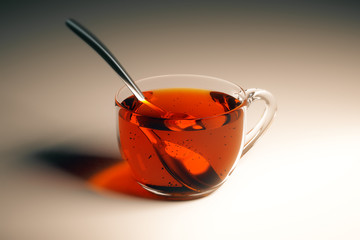 Tea cup with spoon