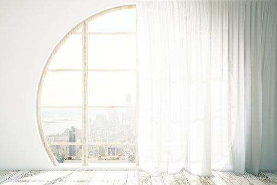 Creative interior with circular window