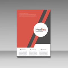 Abstract triangle line brochure cover design. A4 size template