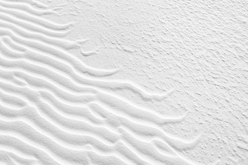 Rippled desert sand in White Sands National Monument, New Mexico.