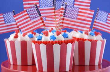 USA theme cupcakes