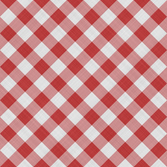 Seamless red and white striped illustration texture