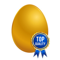 Golden Egg With Top Quality Brand Seal Ribbon