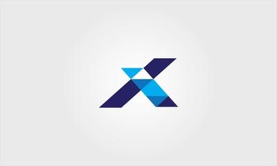 letter X shape logo