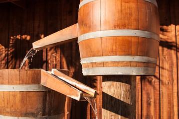 Water barrel chutes