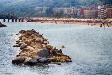 breakwater rocks in the Adriatic sea