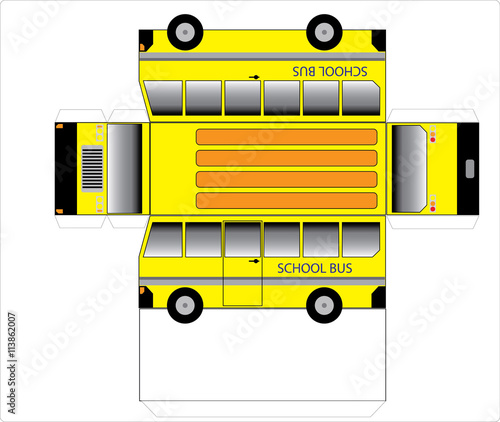 """""""Simple School Bus Outline"""" Stock Photo And Royalty-free"""