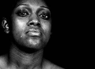Sad Black Woman Crying
