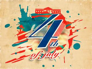 Creative illustration for 4th of July celebration.