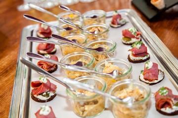 Canapés Fingerfood Platte - Vorspeise