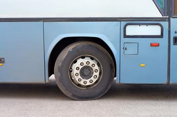 dirty bus wheel