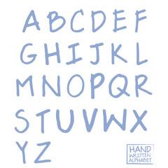 Hand written modern alphabet vector