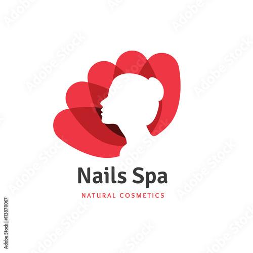 Nails Spa Logobeauty Logonail Logolotus Logoflower Logospa Logo