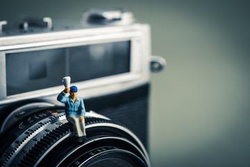 カメラと男性