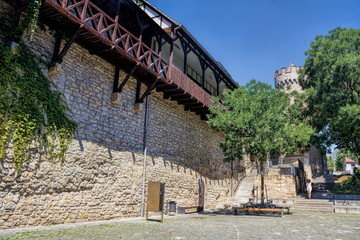 Jena, Stadtmauer mit Pulverturm