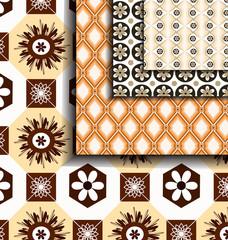 set Geometric Brown pattern