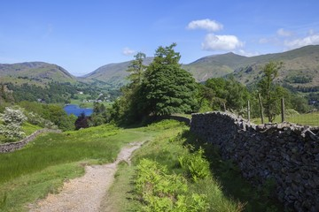 View towards Grasmere, The Lake District, Cumbria, England