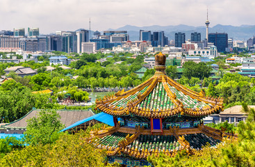 Foto op Plexiglas Peking City view of Beijing from Jingshan park